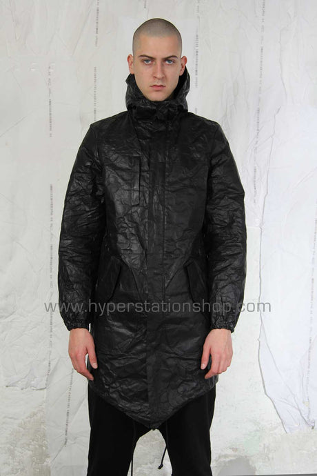 UEG Sprayed Tyvek Coat, Black