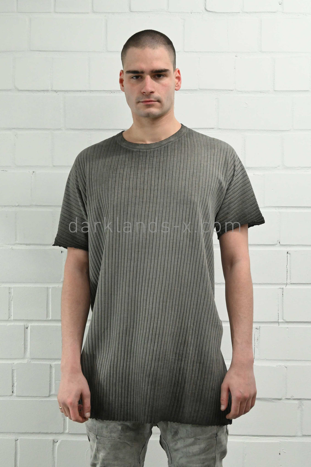 Boris Bidjan Saberi Faded Grey One Piece T-Shirt