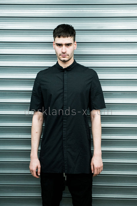 Boris Bidjan Saberi 'Bio-indumentary' Punctured Short Sleeve Shirt