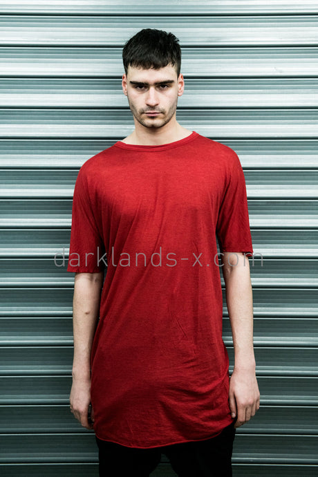 Boris Bidjan Saberi 'Bio-indumentary' Red One Piece T-Shirt