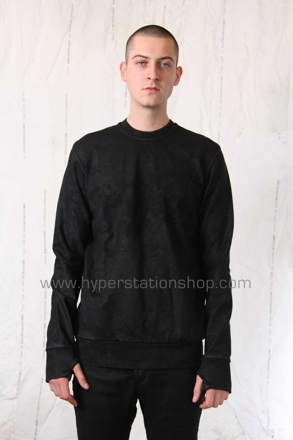 11byBBS Coated Pullover, Black