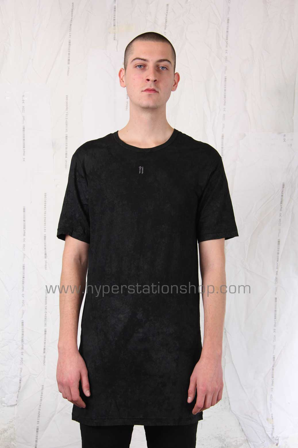 11byBBS Coated And Embroidered T-Shirt, Black