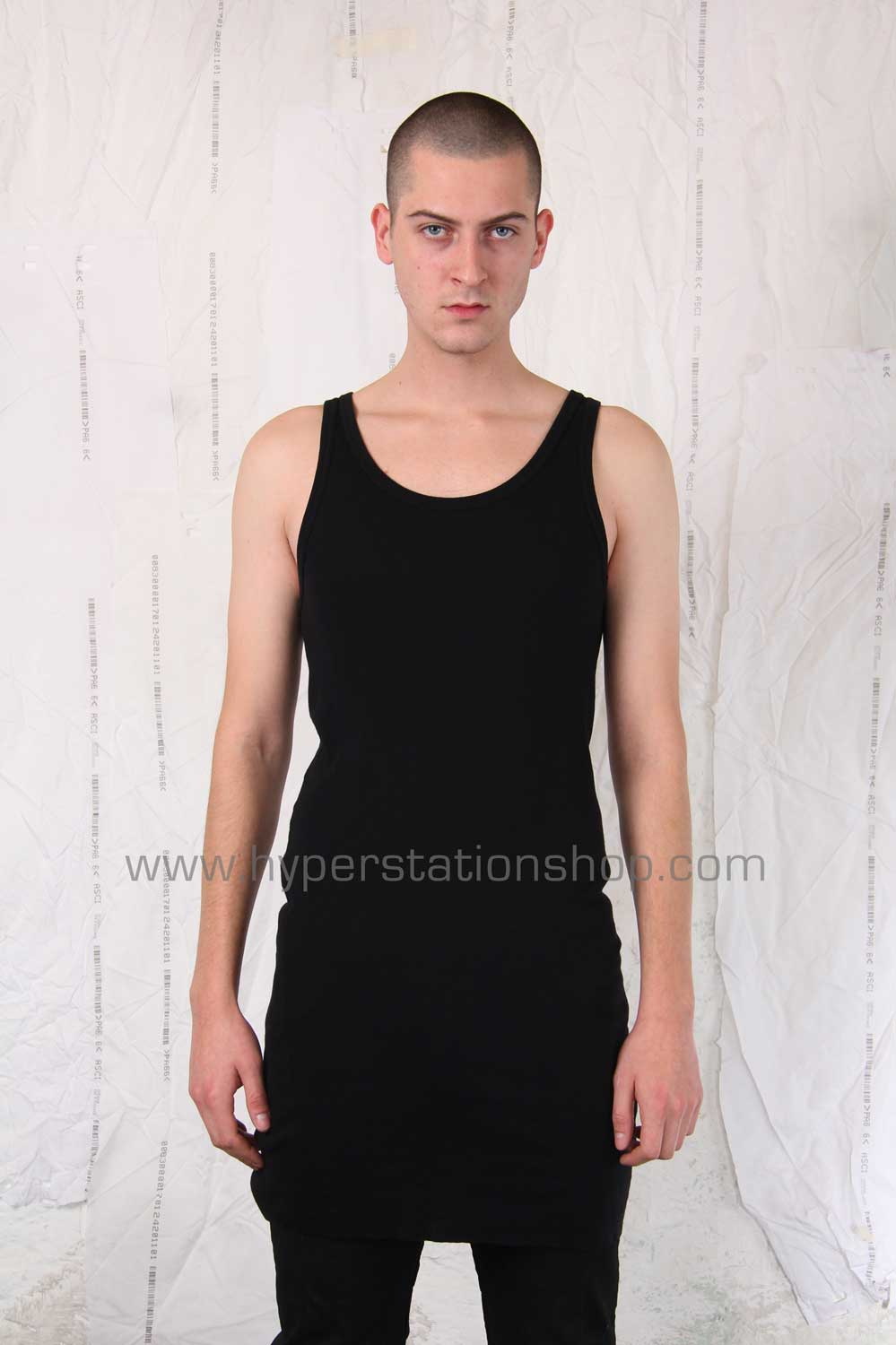 11byBBS Contrast Label Tank Top, Black