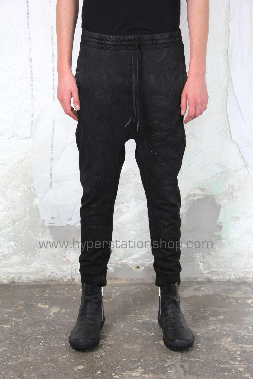 11byBBS Embroidered Joggers, Black