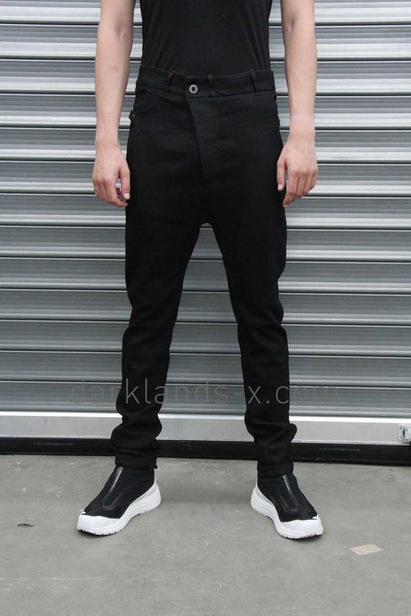 Boris Bidjan Saberi 'Techno Punk' High Waisted Drop Crotch Pant
