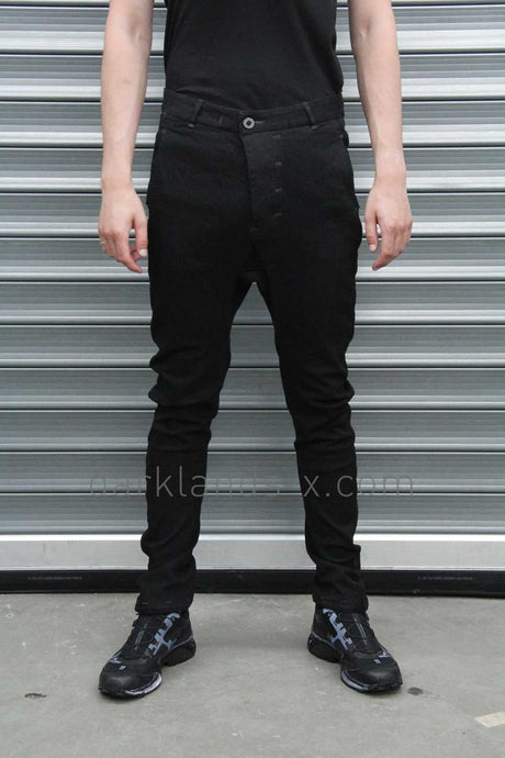 Boris Bidjan Saberi 'Techno Punk' Resin Dyed Drop Crotch Trouser