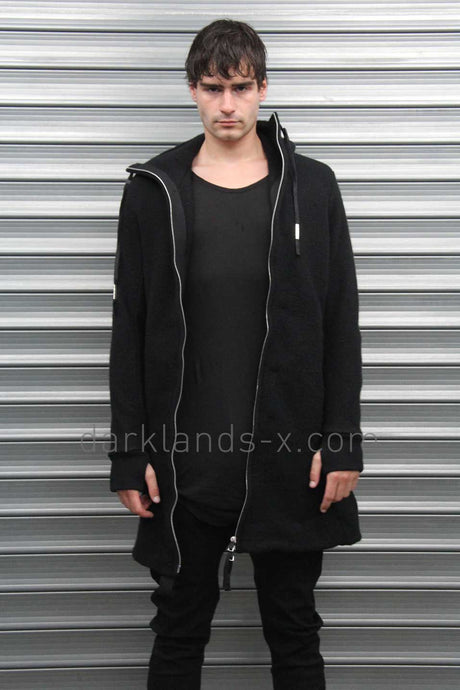 Boris Bidjan Saberi 'Techno Punk' Long And Thick Zip Up Cardigan