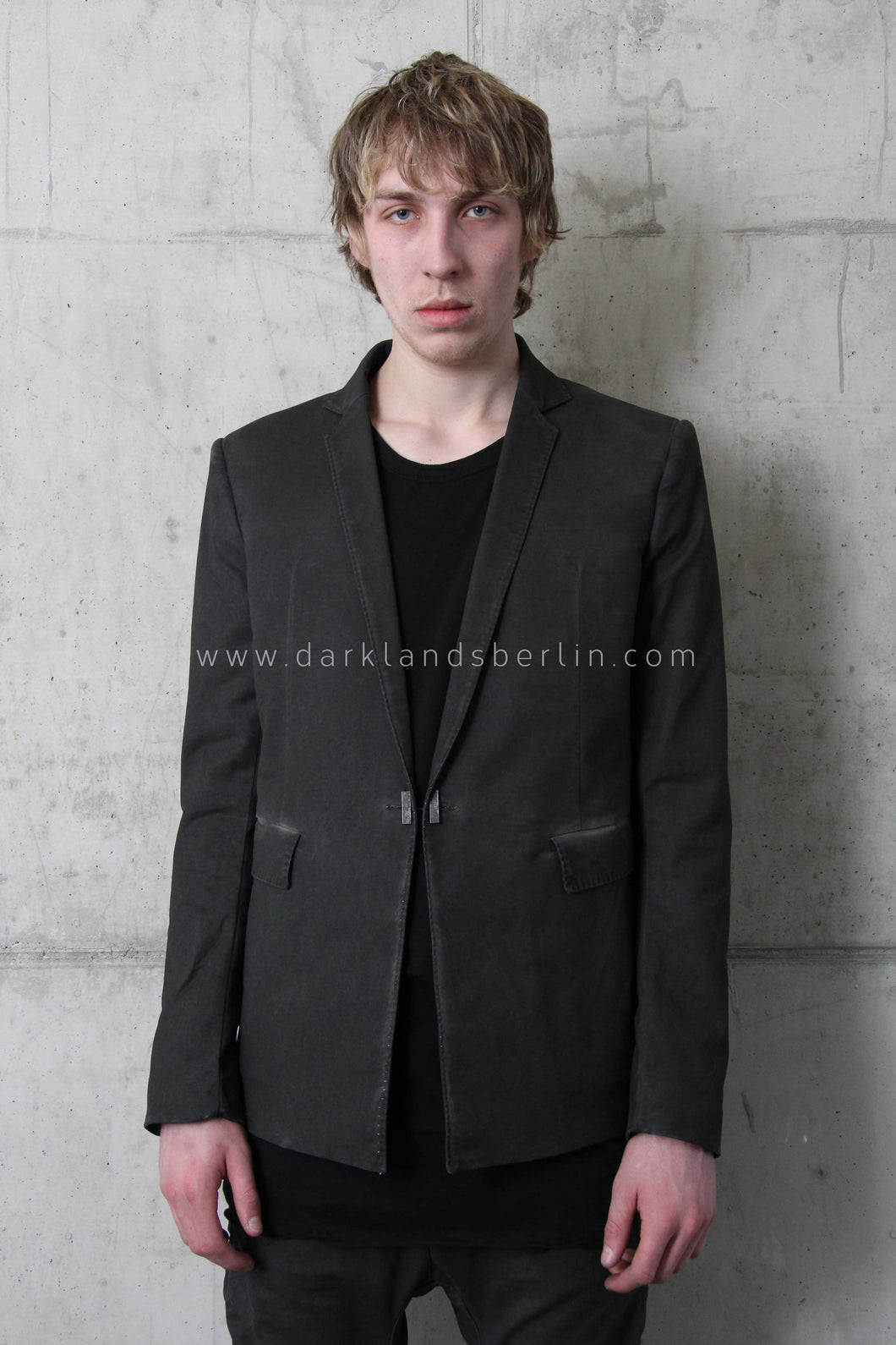 Boris Bidjan Saberi 'Brutalism' Resin Dyed Blazer With Metal Closure