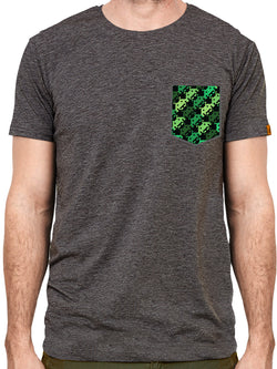 T-shirt à poche - Pixel-Invaders