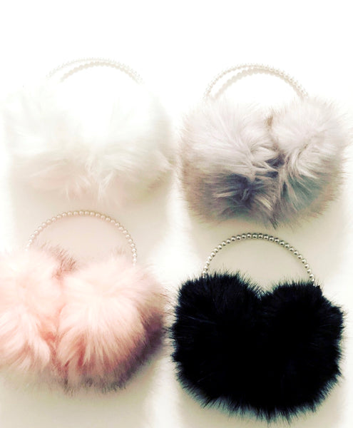 Faux Fur Pretty Girl Pearl Earmuffs