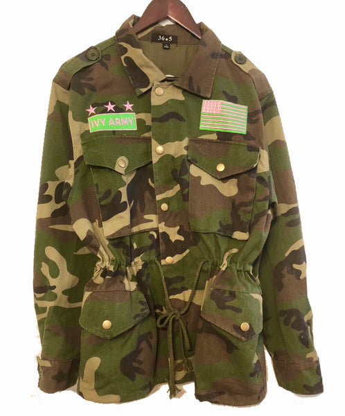 IVY ARMY Embroidered Camo Jacket