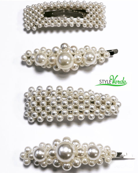 Pretty Girl Pearl Hair Pins