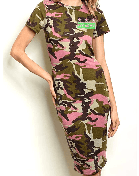 Green Ivy Army Dress