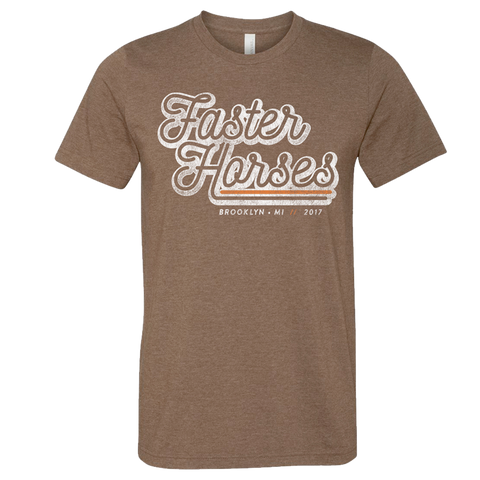 Faster Horses Event Tee - Heather Brown