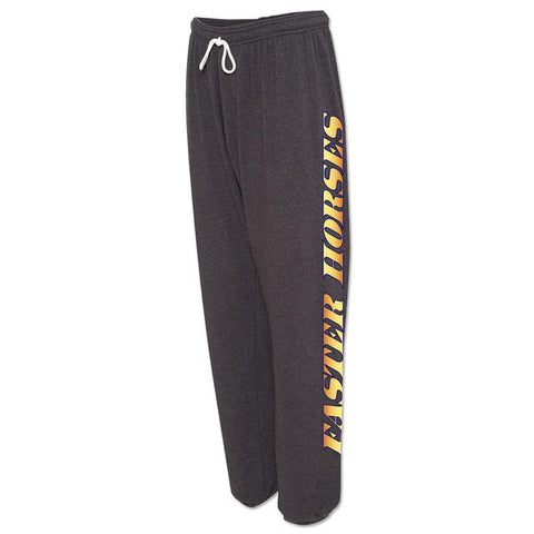 Faster Horses Sweatpants (orange writing)