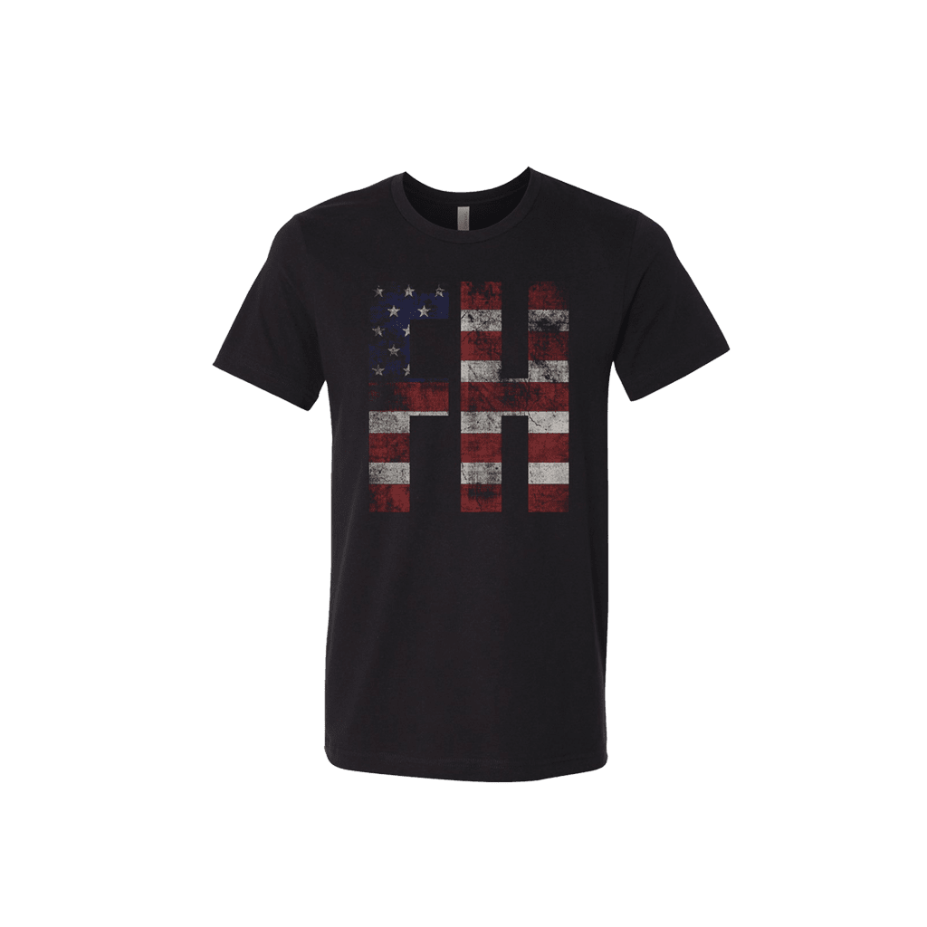 Faster Horses American Flag Tee