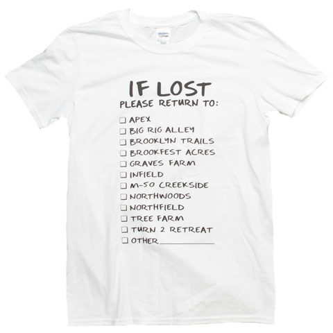Lost and Found White Tee