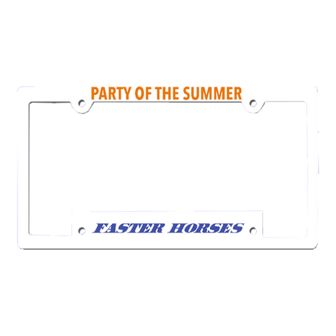 Party Of The Summer License Plate Holder