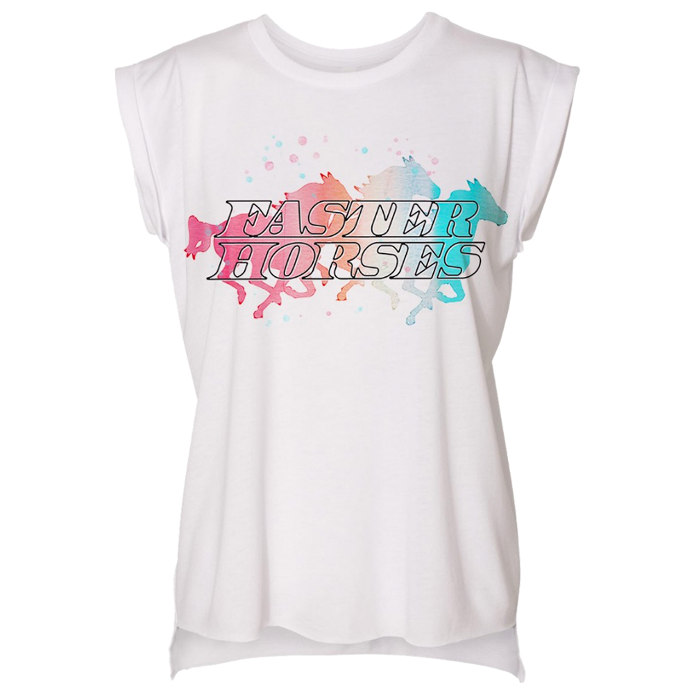 Faster Horses Water Color Tee