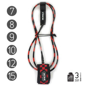 XM SURFBOARD LEASH / CHECKERED / BIG WAVE (.313in)
