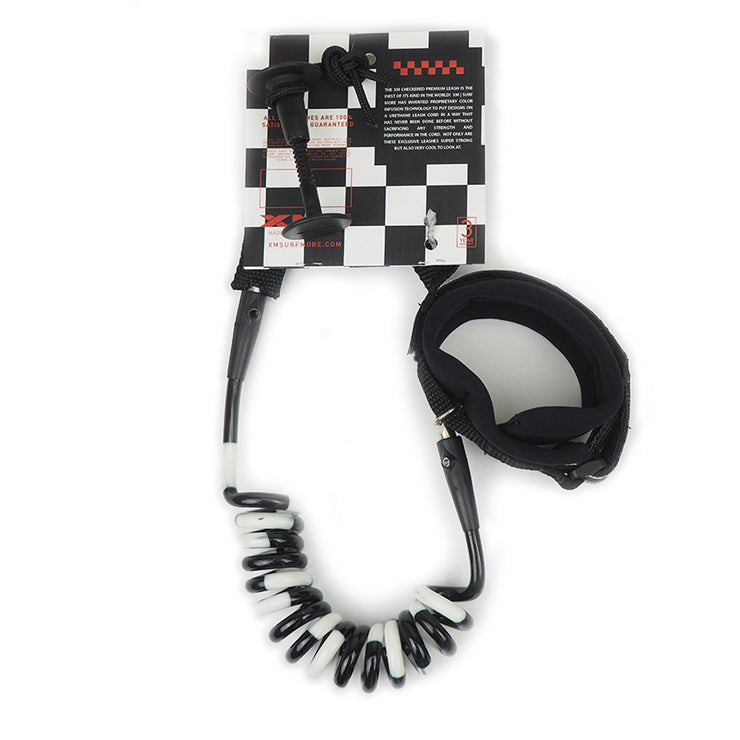 XM BODYBOARD LEASH / CHECKERED / ELBOW-BICEP / COIL