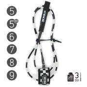 XM SURFBOARD LEASH / CHECKERED / COMP (.220in)