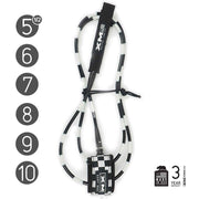 XM SURFBOARD LEASH / CHECKERED / REGULAR (.270in)