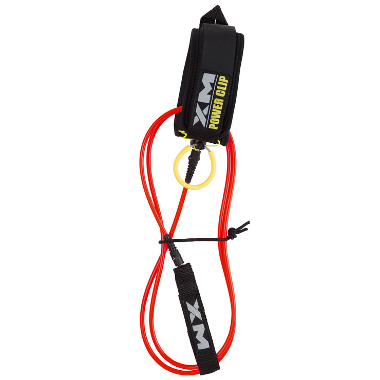 XM SURFBOARD LEASH / POWER-CLIP / KNEE/CALF / BIG WAVE (.313in)