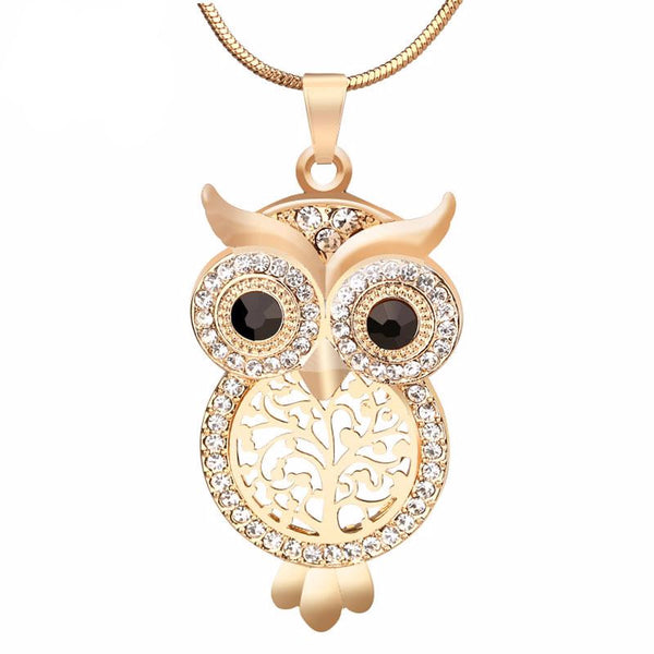 Owl Pendant Necklace with Tree Of Life