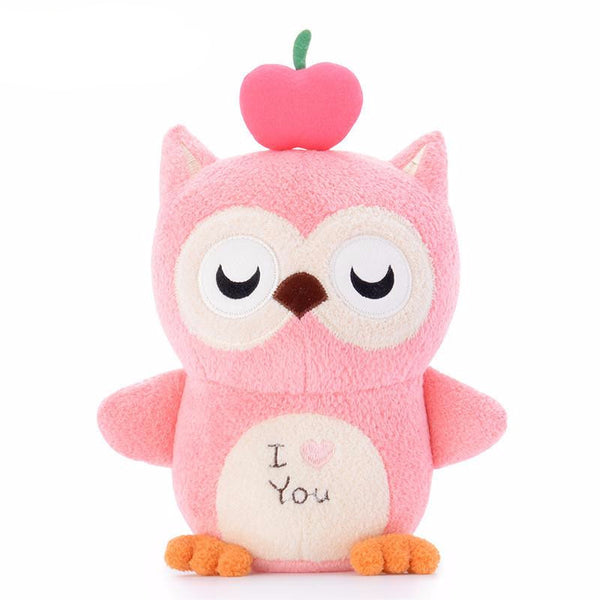 7-Inch Kawaii Pink Stuffed Owl