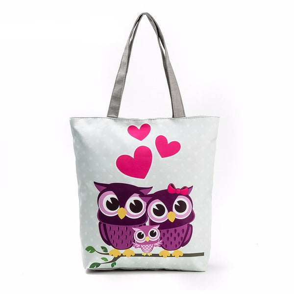 New Canvas Owl Tote Bag