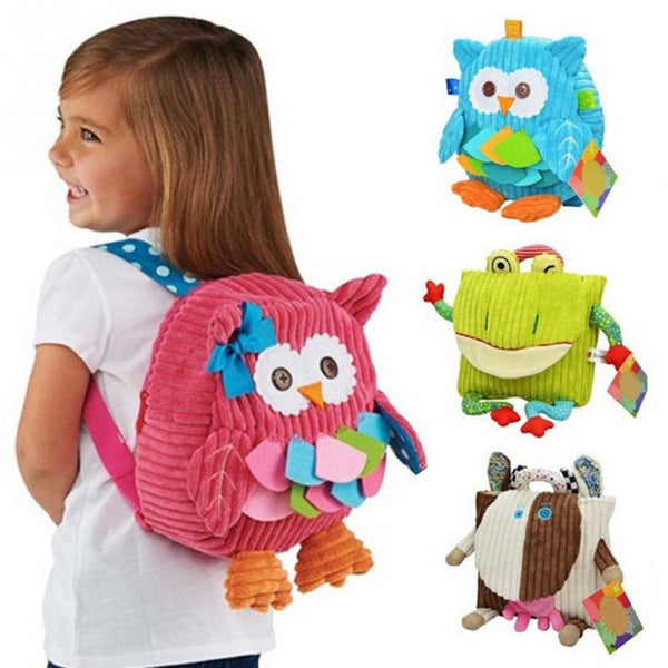 Cute Cartoon Soft Owl Backpack for Children