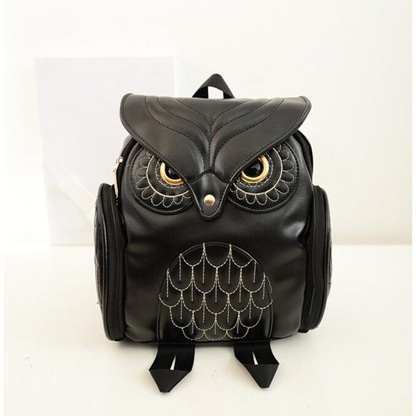 Newest Stylish Leather Owl Backpack