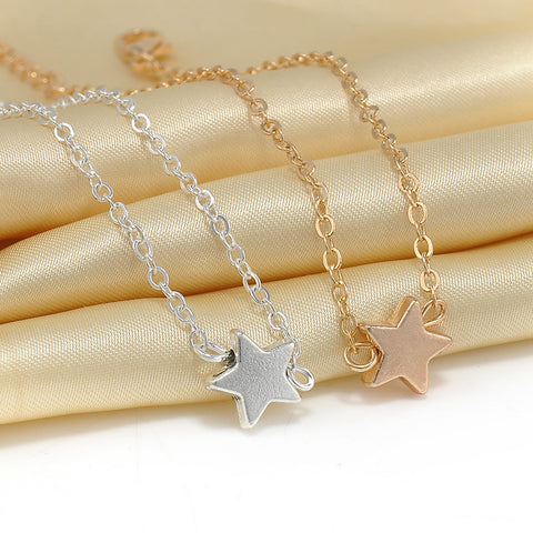 Five-pointed Star, 14k Gold Plated Jewelry Bracelet or Silver Plated bracelet