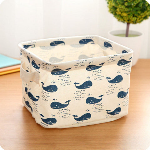 Cotton Linen, Storage Organizer, Storage Box , Underwear ,Storage Basket