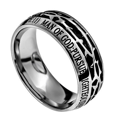 Crown of Thorns - Man of God Men's Ring