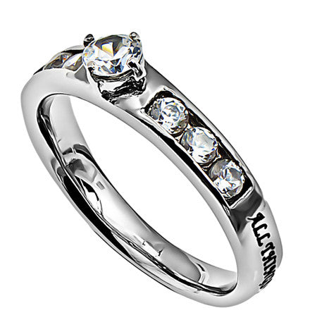 Princess Solitaire Ring – Christ My Strength