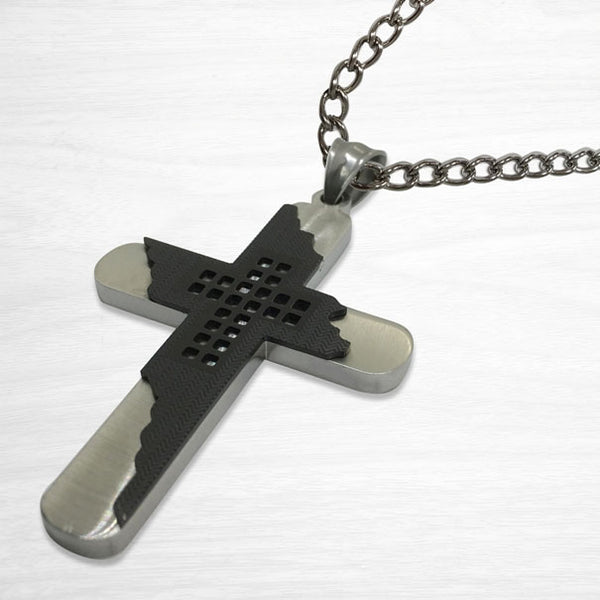 Black and Stainless Cross