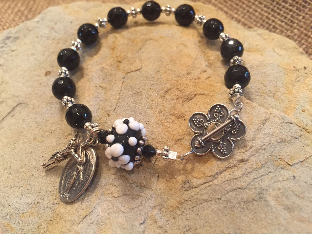 Limited Edition Black Onyx Rosary Bracelet