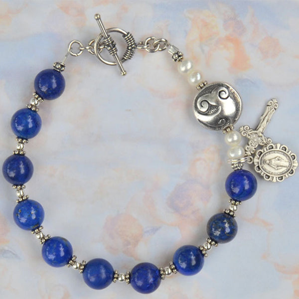 Limited Edition Lapis Rosary Bracelet