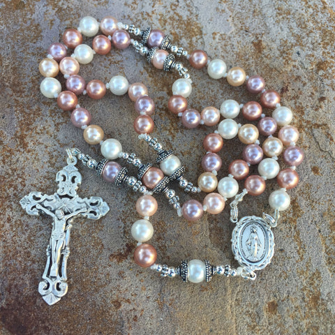 Pastel Shell Pearl Rosary
