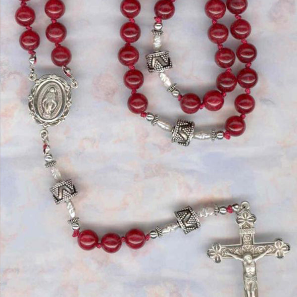 Red Jade Rosary