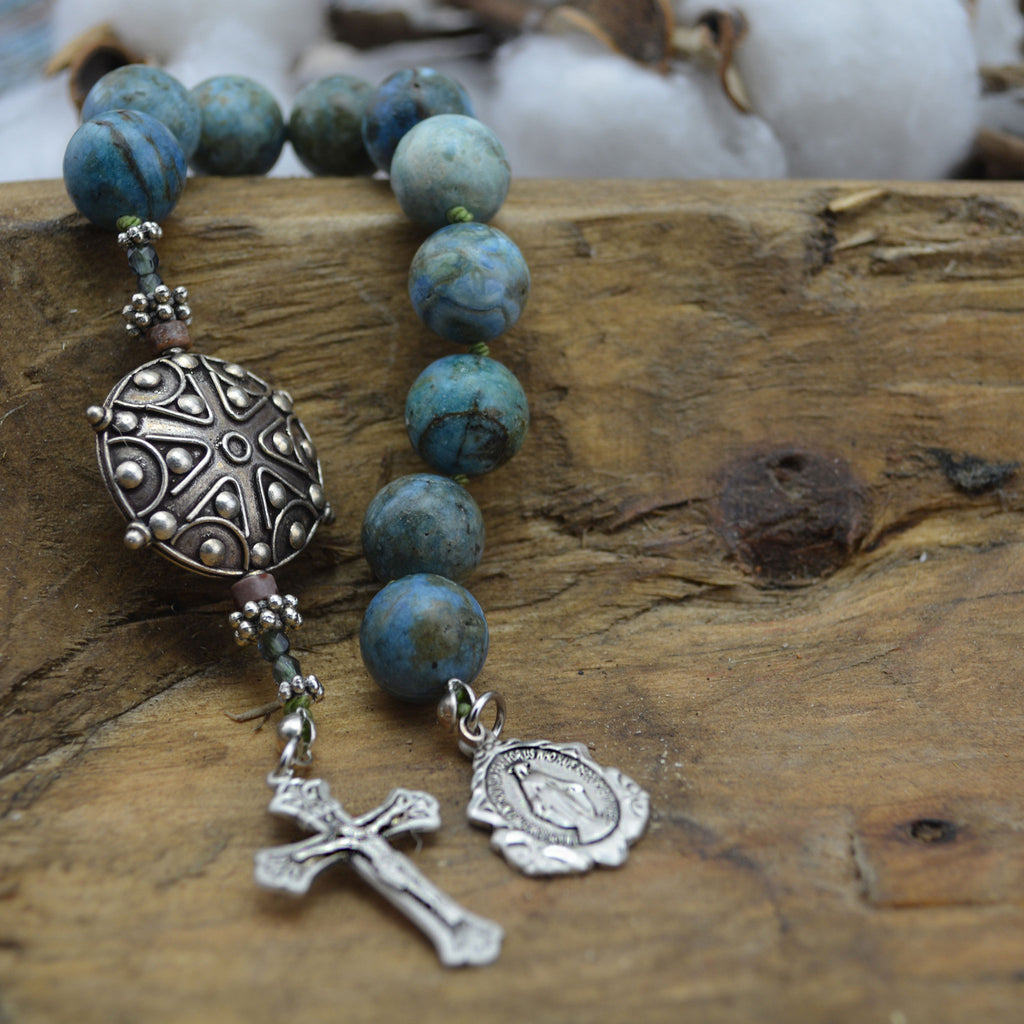 Turquoise Chaplet Rosary
