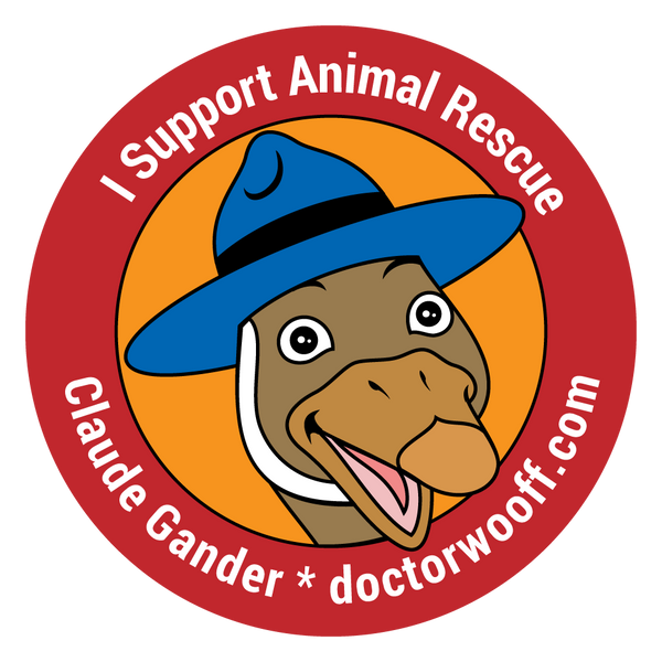 "3.5"" Magnet  ""I Support Animal Rescue"""