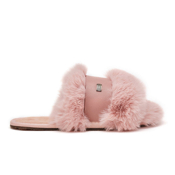 MUCHAS LUXE FAUX FUR PINK