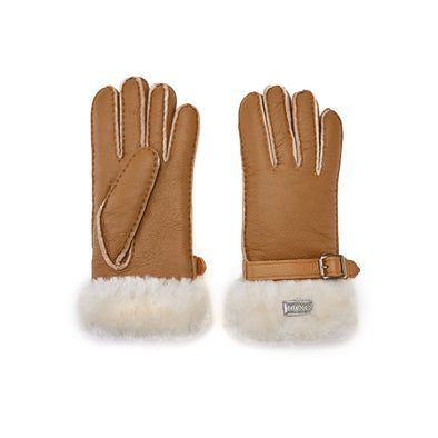 CUFF GLOVES CHESTNUT NAPPA