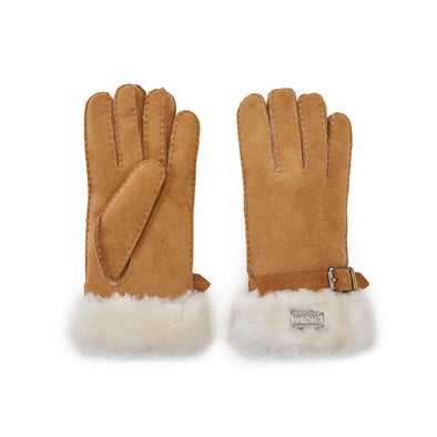 CUFF GLOVES CHESTNUT