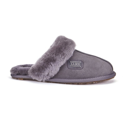 CLOSED MULE SLIPPERS GREY