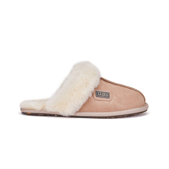 CLOSED MULE SLIPPERS SUEDE CHESTNUT