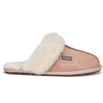 CLOSED MULE SLIPPERS SUEDE SAND